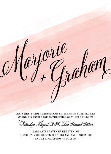 wedding invitations - Awash by Ann Gardner