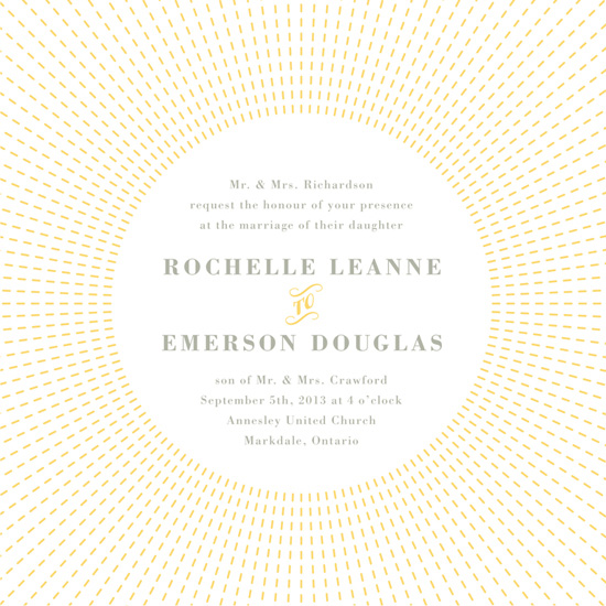 wedding invitations - Stitched Sunburst by Stacey Hill