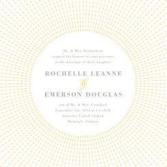 Stitched Sunburst Wedding Invitations