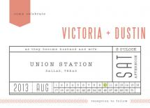 Ticket to Love by Spotted Whale Design