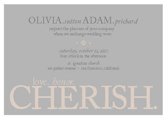 wedding invitations - Words To Live By by Maggie Ziomek
