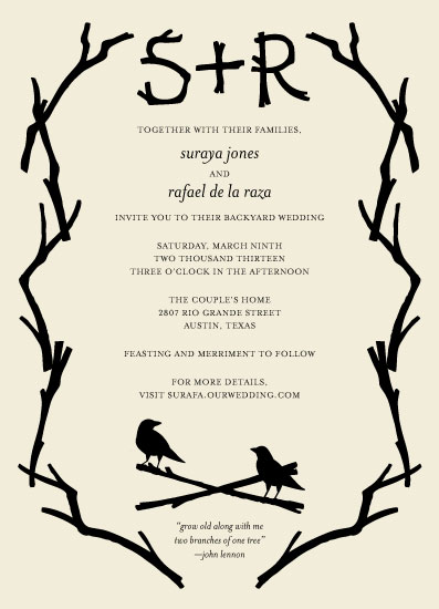 wedding invitations - twigs by Liza Ferneyhough