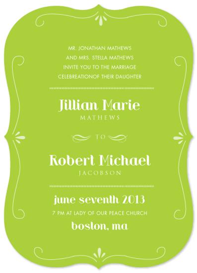 wedding invitations - Green Envy by Ana Gonzalez