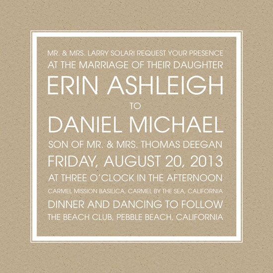 wedding invitations - Craft So Square by Erin Deegan
