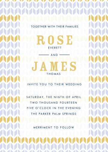 wedding invitations - Modern Chevron by Monica Schafer