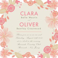 Pretty In Pink Wedding Invitations