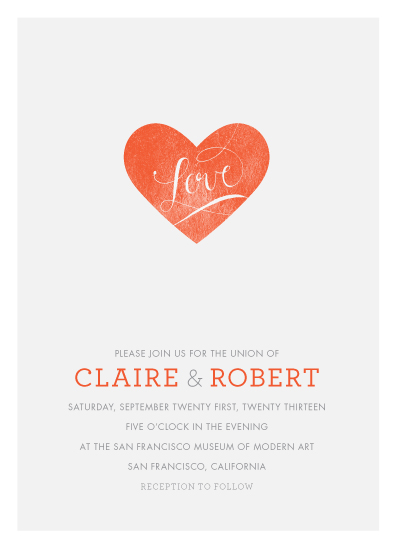 wedding invitations - Heart On Our Sleeves by CRAFTE design