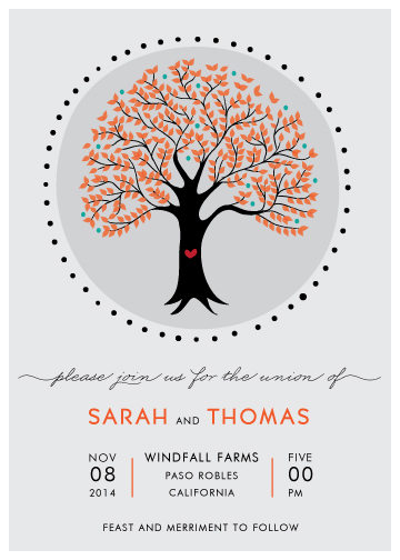 wedding invitations - Joyful Tree by Monica Schafer