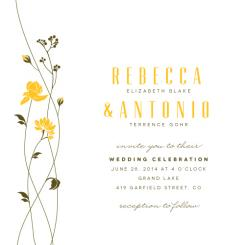 Wild Flowers Wedding Invitations