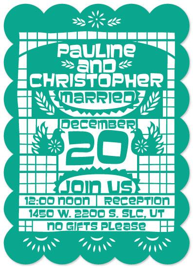 wedding invitations - Una Fiesta by Muffin Grayson