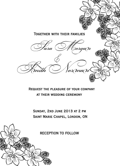 wedding invitations - Black & white invitation by Artscape