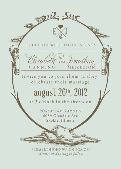 wedding invitations - Over the Cloud by Chykalophia Design