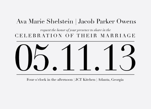 wedding invitations - The Big Day by Ashley Ottinger