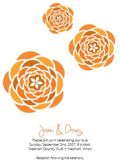 wedding invitations - Three Flowers by Jami Omachel