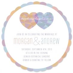 Heart Mosaic Wedding Invitations