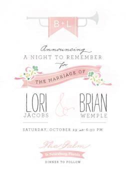 Trumpet Wedding Invitations