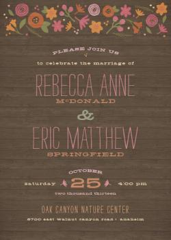 Woodland Whimsy Wedding Invitations