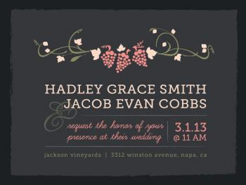 Napa Nuptials Wedding Invitations