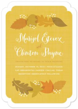 autumn spice Wedding Invitations