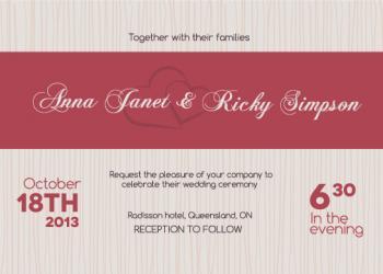 Textured Modern Wedding Invitations