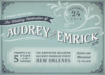Audrey Wedding Invitations