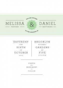Band and Badge Wedding Invitations