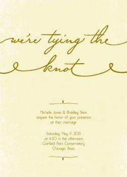 Golden Knot Wedding Invitations
