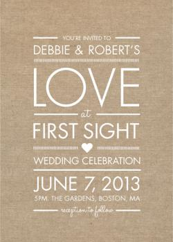 Love at First Sight Wedding Invitations
