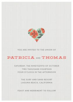 Big Heart Wedding Invitations