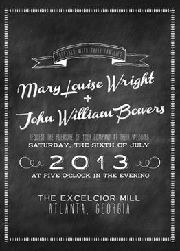 wedding invitations - Old School by Jenn Goodrich