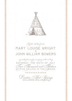 Wigwam Wedding Invitations