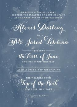 Stardust Wedding Invitations