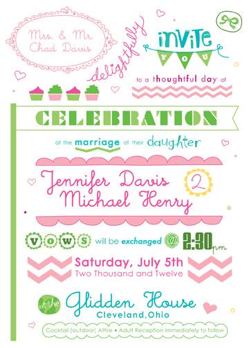 wedding invitations - a carnival spun of love by Melissa Cornet