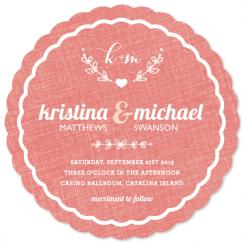 Cozy Coaster  Wedding Invitations