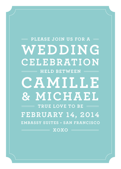 wedding invitations - sweet & simple love by Waui Design