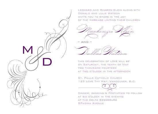 wedding invitations - Me & You Dashing Monogram by Yoko Creations
