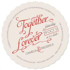 Together Forever Wedding Invitations