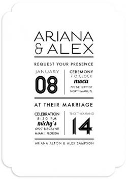 Newspaper Wedding Invitations
