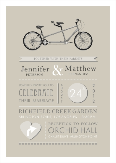 wedding invitations - Love Cycle by Oma N. Ramkhelawan
