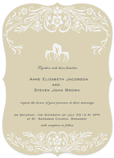 wedding invitations - Two Horses by Hendro Lim