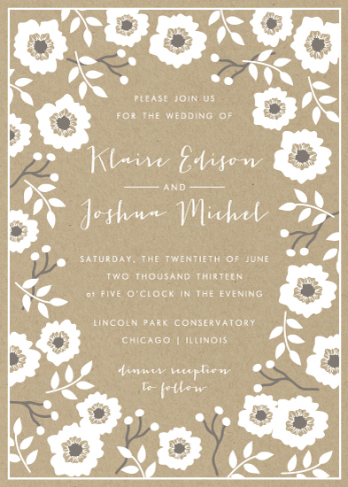 wedding invitations - Kraft Florals by Lehan Veenker