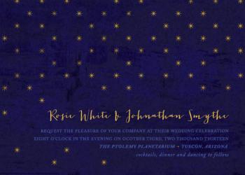 Night Frescoe Wedding Invitations