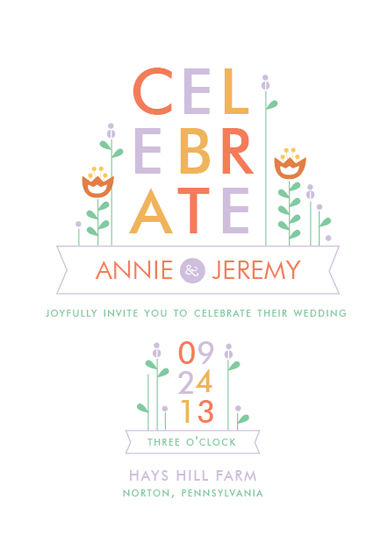 wedding invitations - Dutch Celebration by Cheer Up Press