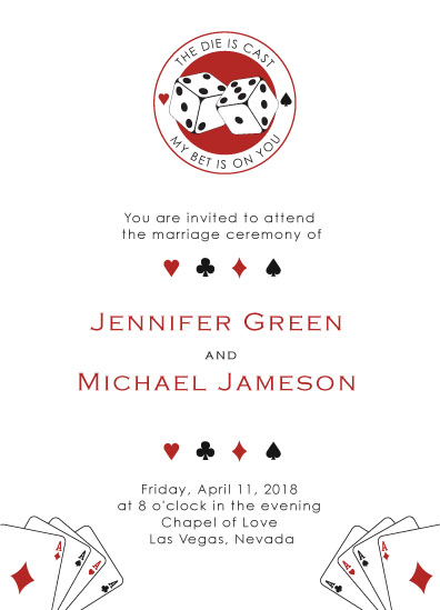 wedding invitations - casino night by Tati