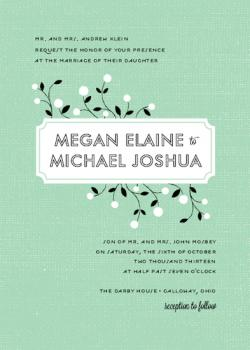 Budding Love Wedding Invitations