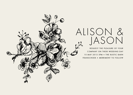 wedding invitations - Elegance Illustrated by Phrosne Ras