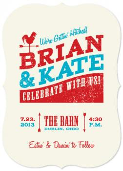 Down on the Farm Wedding Invitations