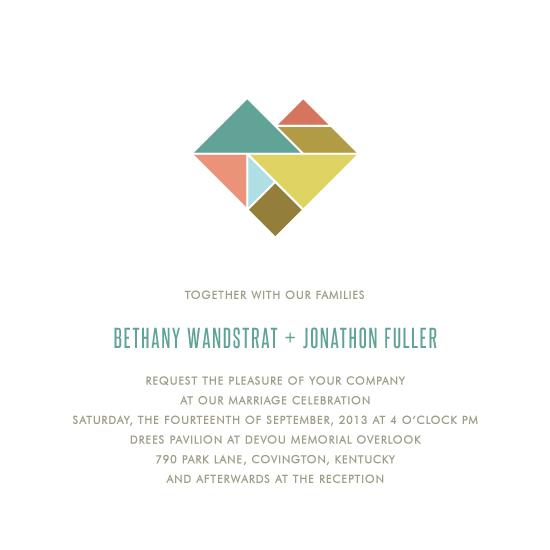 wedding invitations - Tangram Heart by Kim Dietrich Elam