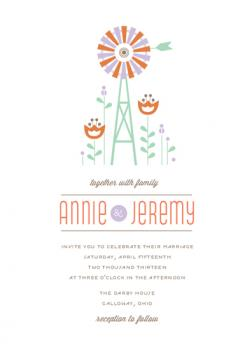 Wedded Windmill Wedding Invitations