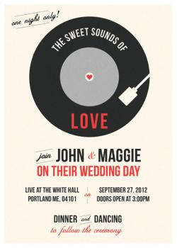 The Sweet Sounds Wedding Invitations
